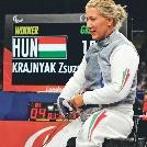 Egy aranyat és két bronzérmet nyert Krajnyák Zsuzsa a montreal-i vívó világkupán