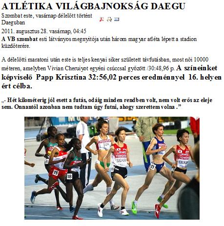 Atlétikai Világbajnokság Daegu - Atlétika - Hírek - Újpesti Torna ... d9ba3eb9a3